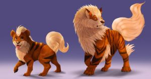 Pokemon - Growlithe line