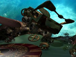 Steam punk vehicule 2nd view (3D training) by MimiLeChampi