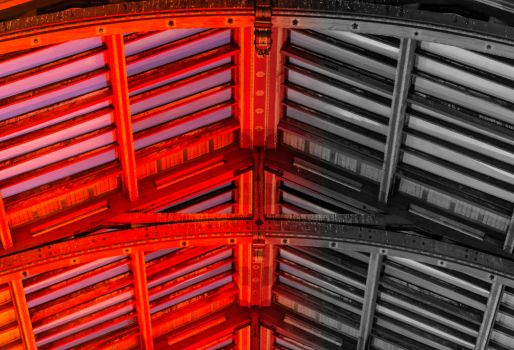 Ceiling of the Copenhagen Central Station by atomkat