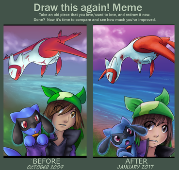 Bafore and after Keemeata's Past by yoshitaka