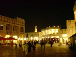 Doha Souq Market Square by Arcturion