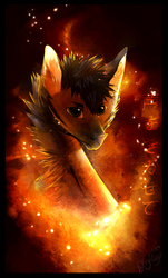 Fire in his eyes by GoldenTigerDragon