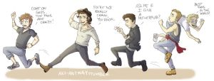 One Direction on the Run by AkiTheBonez