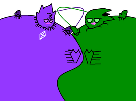 Amethyst and Poisy's Inflatable Love (REQUEST #4) by DankakaTheCat