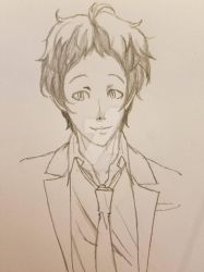 Adachi Sketch by Sophie-likes