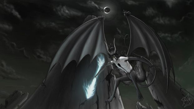 Ulquiorra Cifer - With Lance, 1080 - By Tersethra by Tersethra