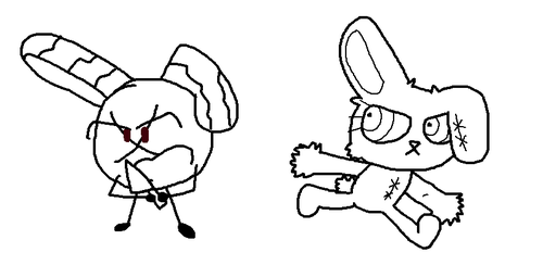 Bloody Candelot and Bloody Bunny by jigglycutie