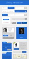 Ui Kit free PSD download by tempeescom