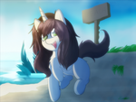 [GIFT] Sinamuna Pony - Day at the Beach by TheBetrayedPhoenix