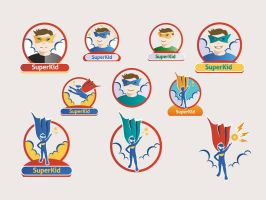 Superkid - 15 Vectors and Icons by GraphicIdentity