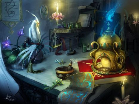 table of the Alchemist by yanzi-5