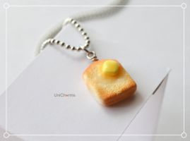 Breakfast Toast with Honey and Butter Necklace by Unicharms
