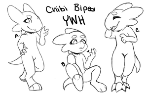 Chibi Wyngro Bipedals  YWH (CLOSED) 4/5 by KillerLillers