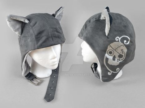 Steampunk Aviator Cap - The Mercenary by SewDesuNe