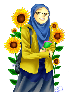 sunflower(s) and I by sasaQrenz