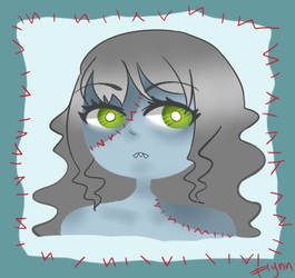 Zombie girl portrait by SimplyDefault