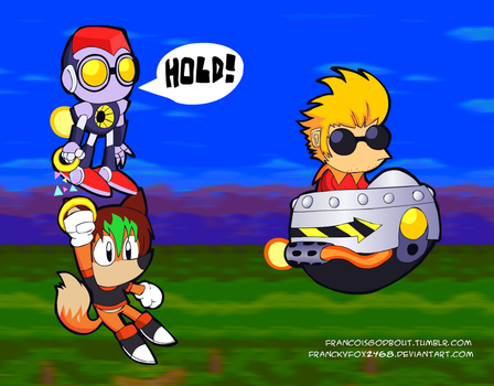 (B-day gift) Hyper Mania Chaotix and Knuckles by FranckyFox2468