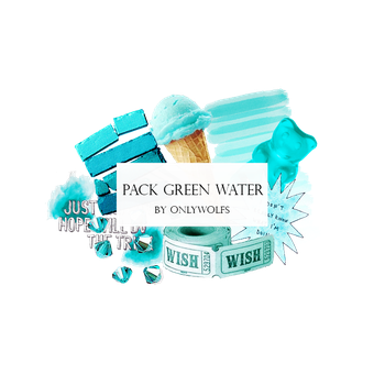 Pack Green Water / Pack Verde Agua [Pack #10] by OnlyWolfs