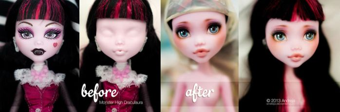 BeforeAfter + Youtube Video - MH Draculaura by AndrejA