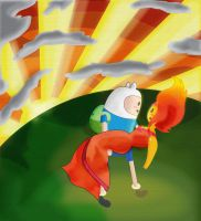 Finn and Flame Princess by KuddlyFatality