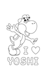 [DL available][Lineart] I Luv Yoshi T-shirt design by Ishimaru-Chiaki