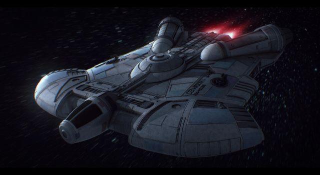 Star Wars Ghtroc Light Freighter by AdamKop