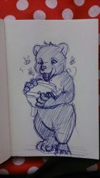 Sketch Bear by uniquorned