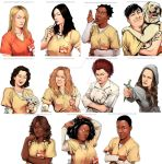 OITNB Portrait Doodles by Afterlaughs