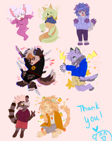 All Chibi Commissions! by dek0s