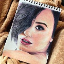 Demi Lovato Color Portrait by Narniakid