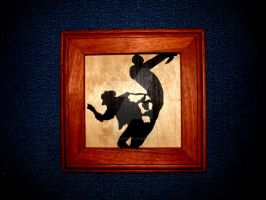 TF2 Sniper VS Spy marquetry by PepperoniPepeto