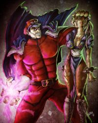 M. Bison vs Chun Li by reactormako