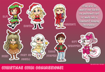 Christmas Chibi Commissions/Decorations! by keh-arts