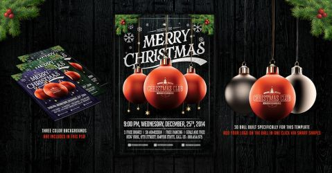 Christmas Party Flyer Template v.2 by saltshaker911