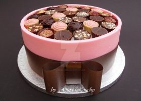 Pink Chocolate Box Cake by ginas-cakes