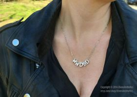 What Would David Bowie Do Silver Necklace by Katyok