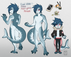 Shark boy - Auction adopt (CLOSED) by Negatable