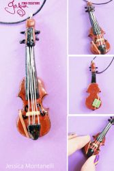 Miniature Viola - Pendant by Jeyam-PClay