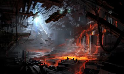 Unstable Magnetic Field lava flood by 2buiArt