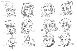 Equestria Girls studies - supporting cast by mayorlight