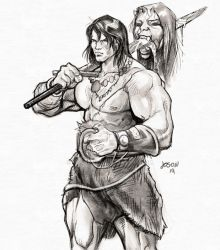Young Conan by vagrantt