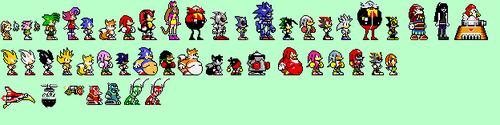 Sonic Character Cast: Sonic Pocket Adventure by Team-Lava
