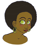 Afro girl by Arkeya