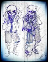 Sans Hugpillow sketch by Witequeen