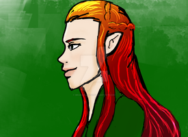 Birthday gift Tauriel by brandflakes7