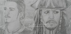 Will Turner and Jack Sparrow by ChazyChaz