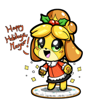 Holiday Isabelle by SilviShinyStar