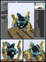 Minecraft Proxy Pylon Carbink Mob Model