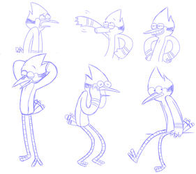 Mordecai Sketches by TheWardenX3