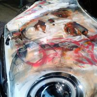 Live Painting of a Mini at BMW Centre in Munich by ART-BY-DOC